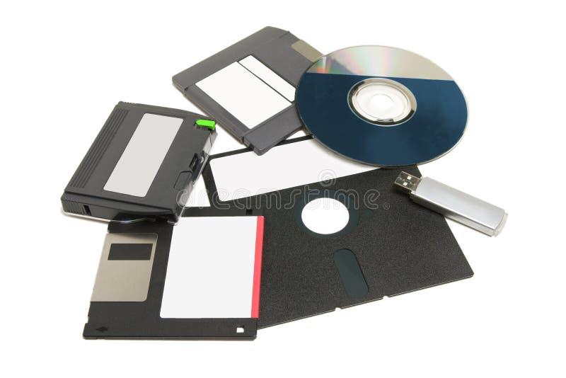 Supports d'information d'ordinateur photo stock