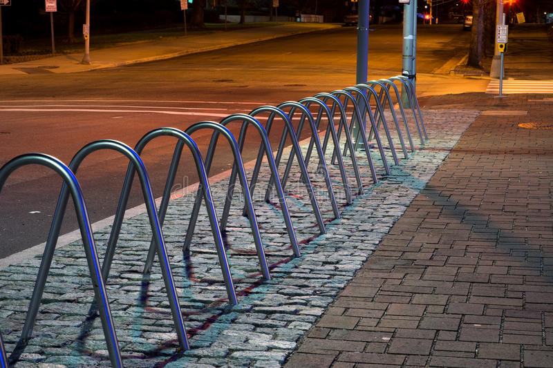 Supports de bicyclette photographie stock