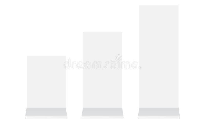 Supports de blanc de publicité extérieure illustration de vecteur