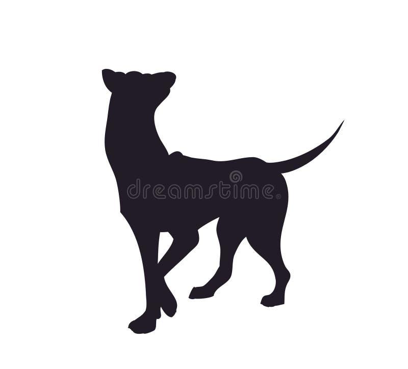 Supports de chien, silhouette, vecteur illustration de vecteur