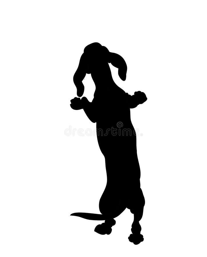 Supports de chien, silhouette, vecteur illustration libre de droits