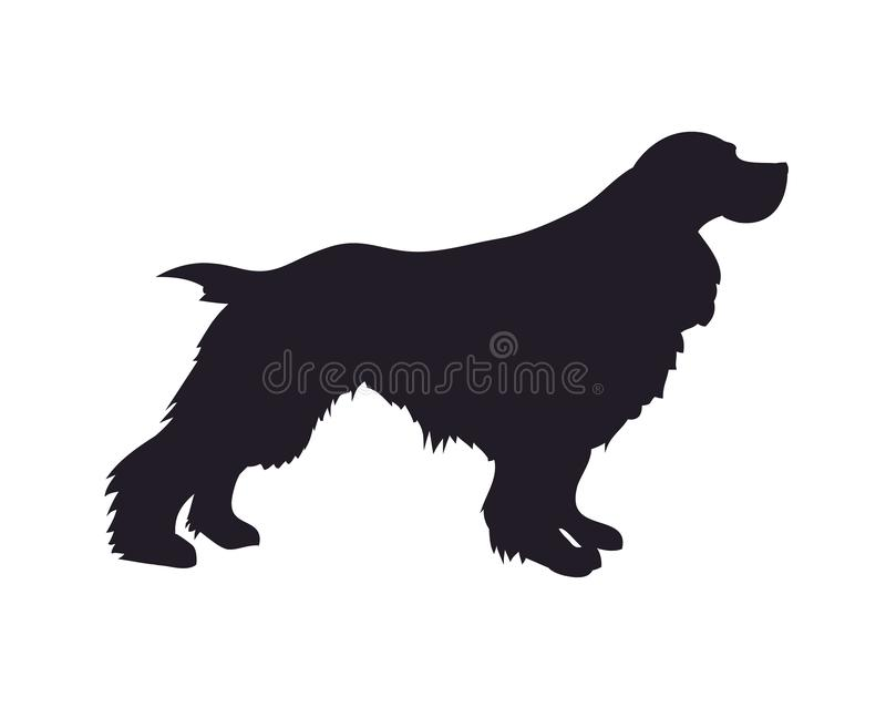 Supports de chien, silhouette, vecteur illustration stock