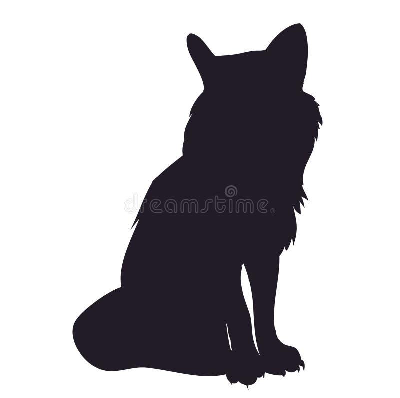 Supports de Fox, silhouette, vecteur illustration stock
