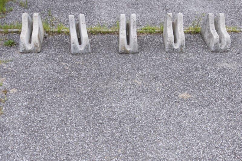 Supports en pierre de vélo images libres de droits