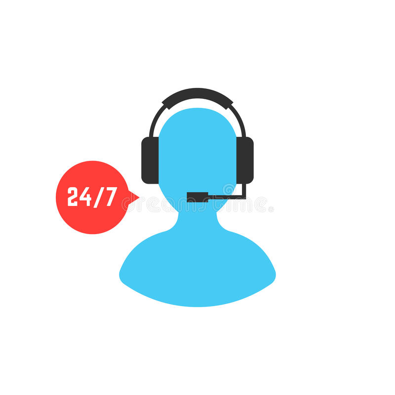 Supporttjänst med användaresymbolen royaltyfri illustrationer