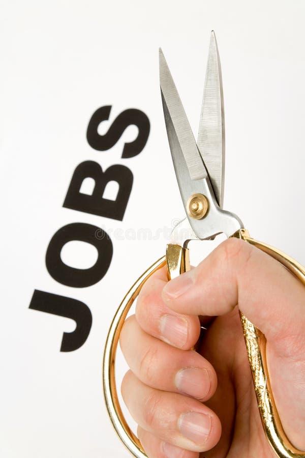 Suppression d'emplois image libre de droits