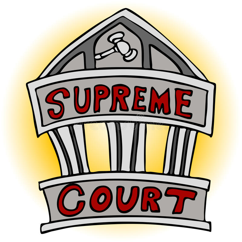 Supreme Court. An image of the supreme court building royalty free illustration