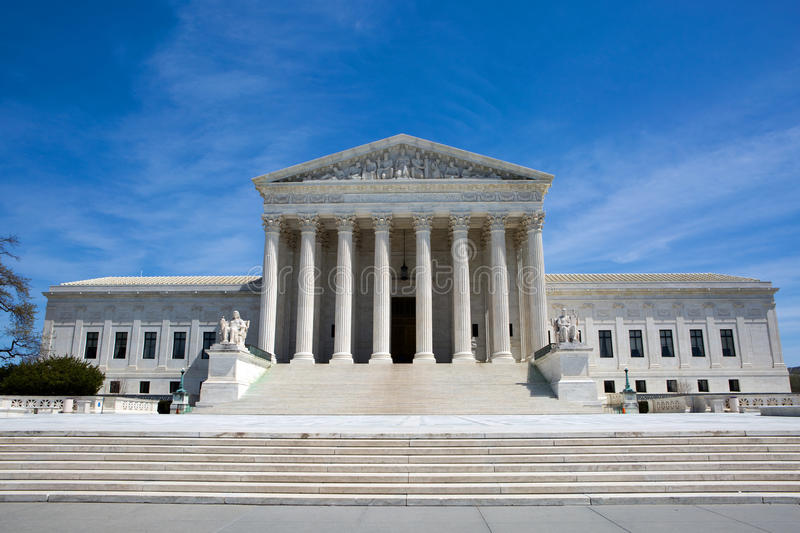 Supreme Court Building USA royalty free stock photos