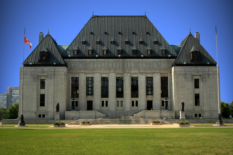 Supreme Court of Canada. The Federal Supreme Court building in Canada's national capital of Ottawa stock photo