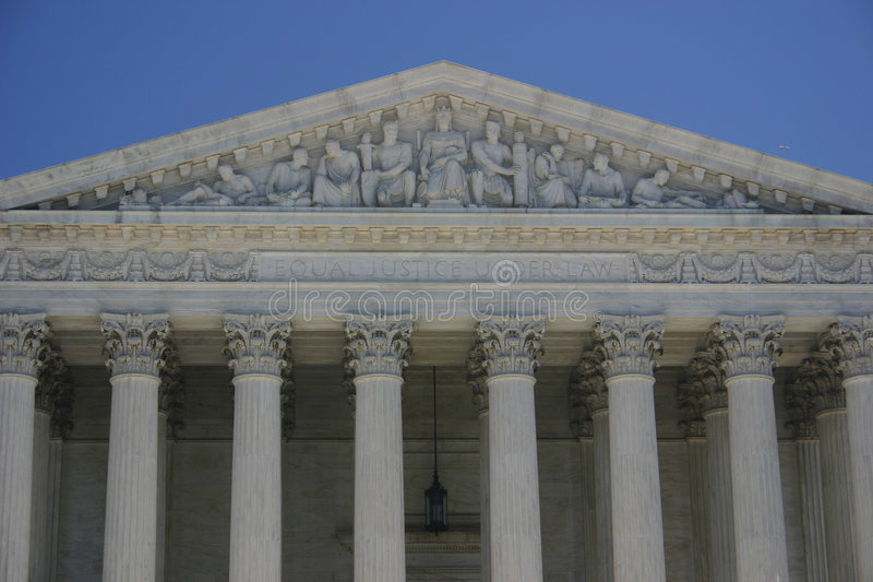 Supreme court: equal justice under law royalty free stock photos