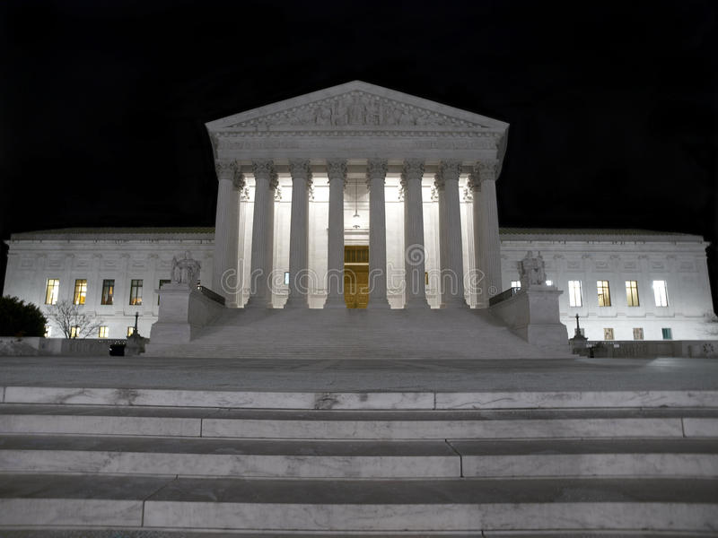 Supreme Court Night Stock Photo
