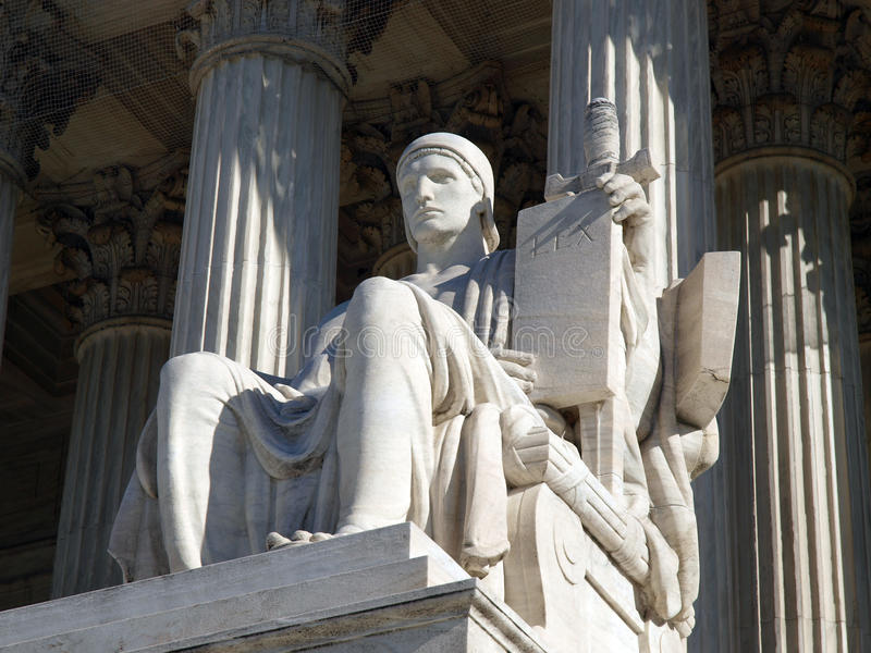 Download Supreme Court Statue stock image. Image of statue, states - 12690987