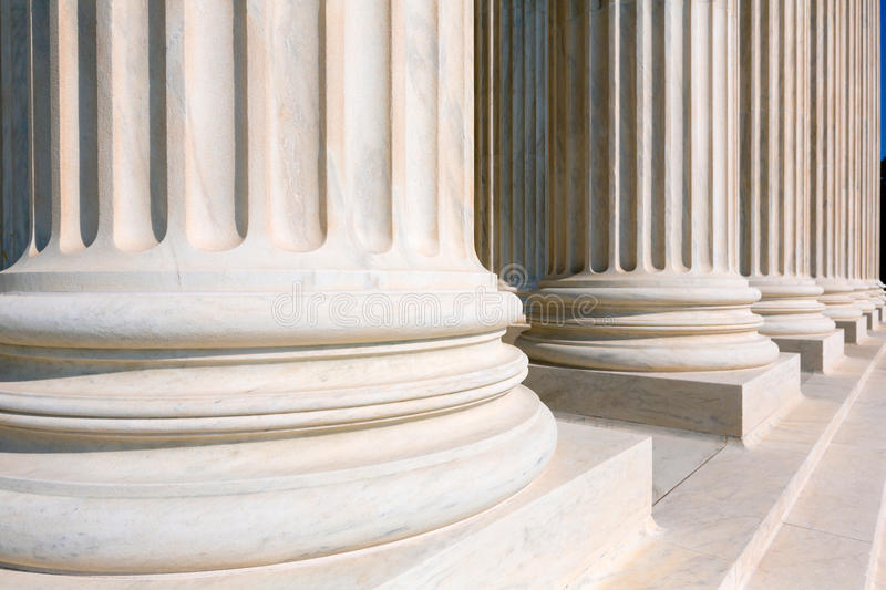 Supreme Court of United states columns row royalty free stock images