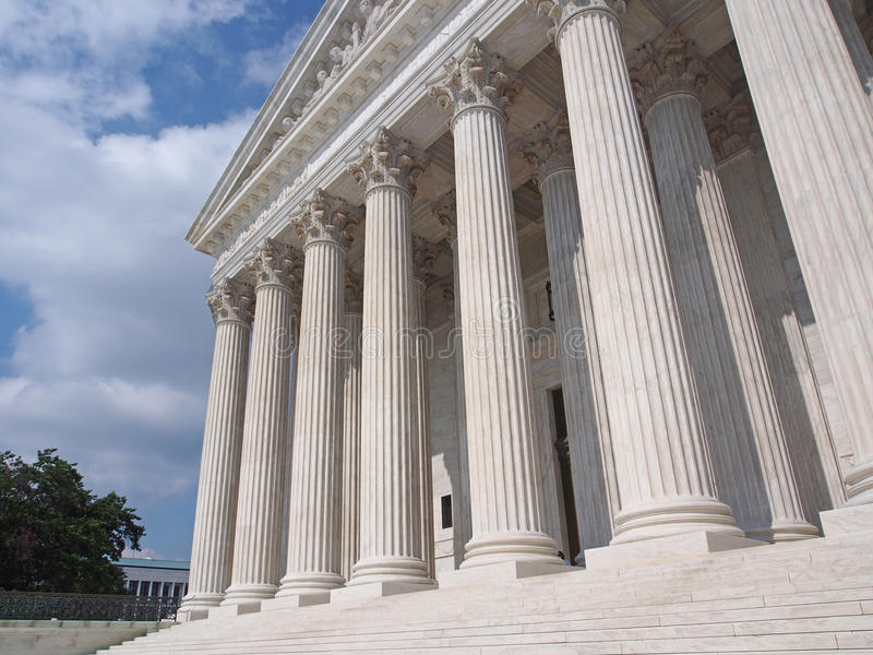 Supreme Court of the United States. Front portico stock photos