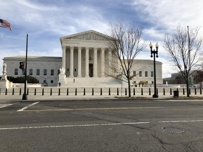 Supreme Court of Justice DC royalty free stock images