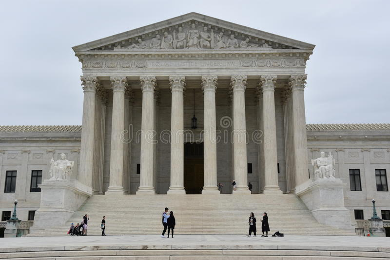 Supreme Court of the United States royalty free stock image