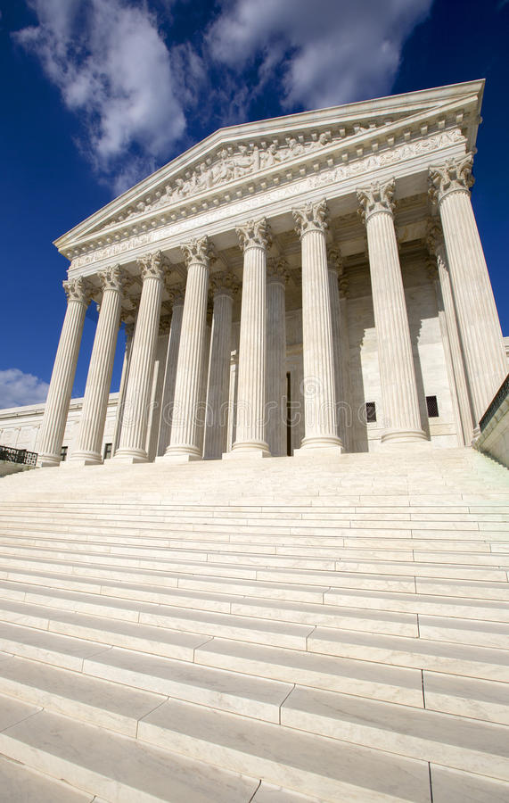 The Supreme courthouse. stock images