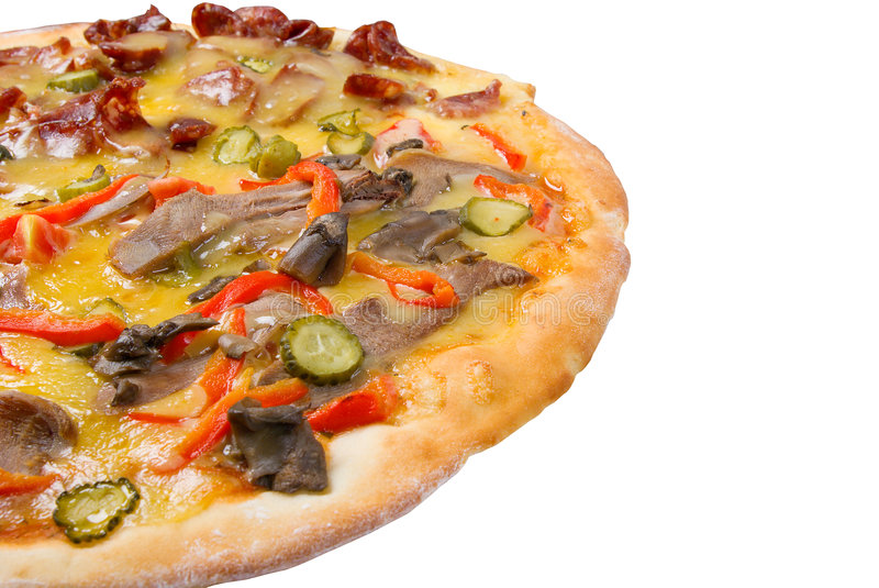 Download Supreme Pizza  isolated stock photo. Image of fattening - 6081374