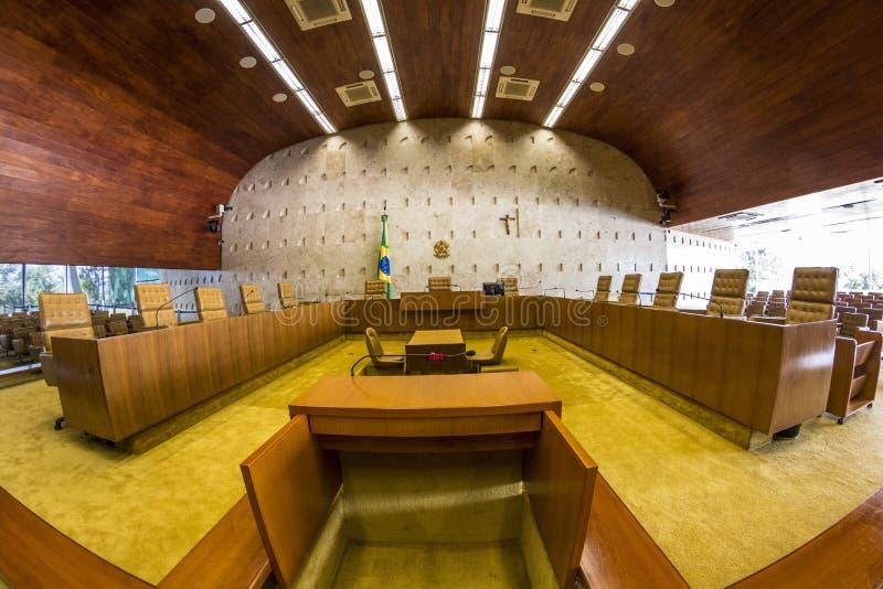 Supremorechtbank Federale - Brasília - DF - Brazilië stock fotografie
