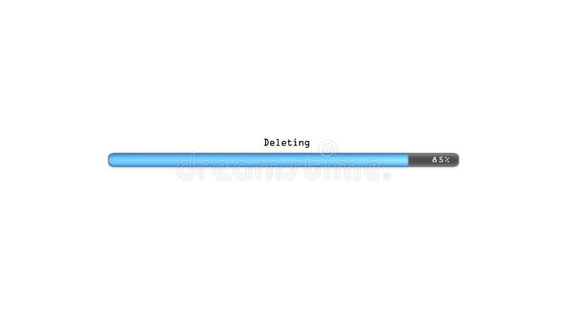Supresión del fondo blanco ilustración del vector