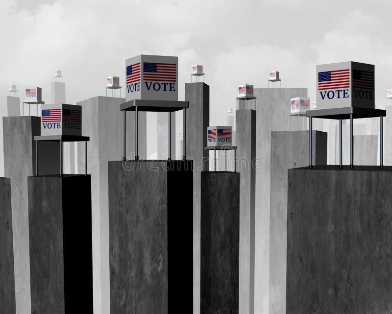 Supressão do voto ilustração stock