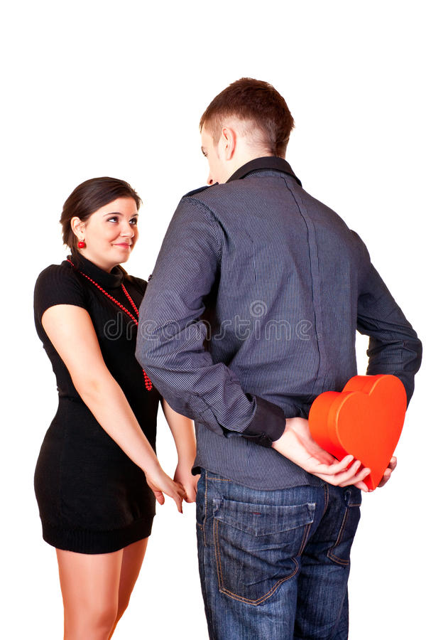 Download Suprise for valentine stock image. Image of giving, lovers - 12883859