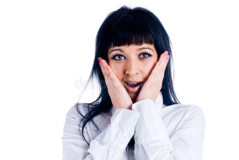 Download Suprise woman stock image. Image of makeup, emotion, girl - 12415885