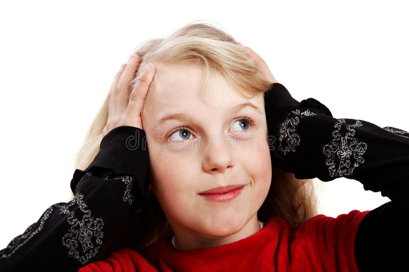 Suprised girl. royalty free stock images