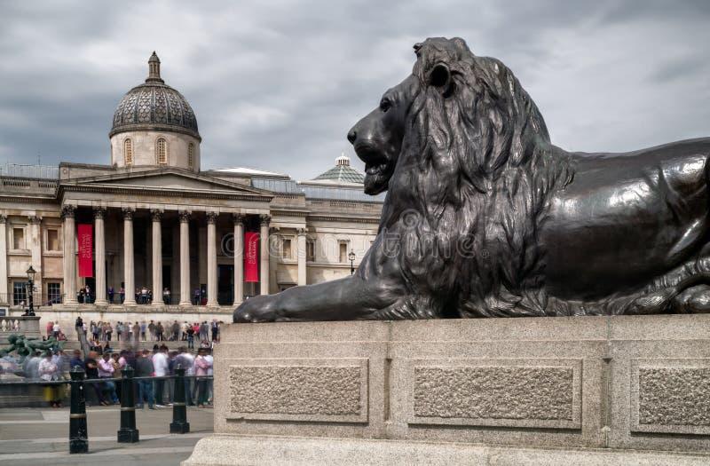 Suqare de Trafalgar, Londres imagenes de archivo
