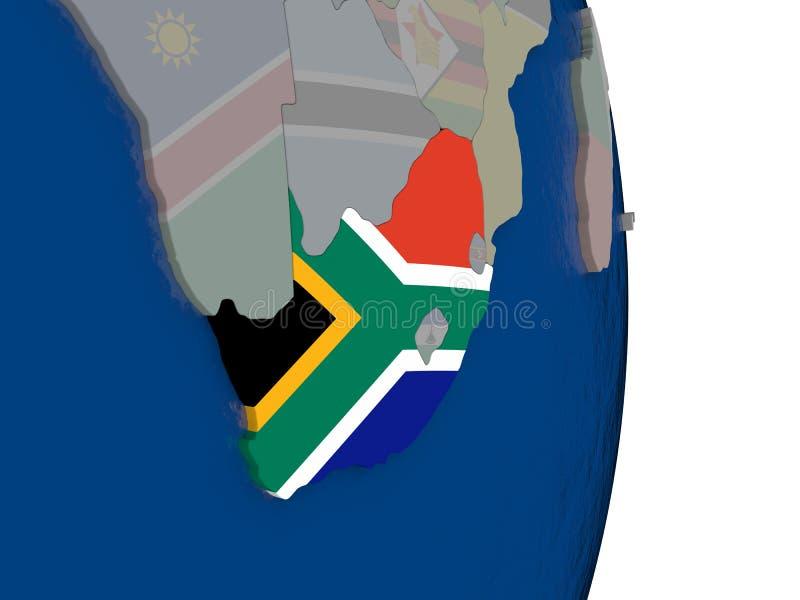 Suráfrica con su bandera libre illustration