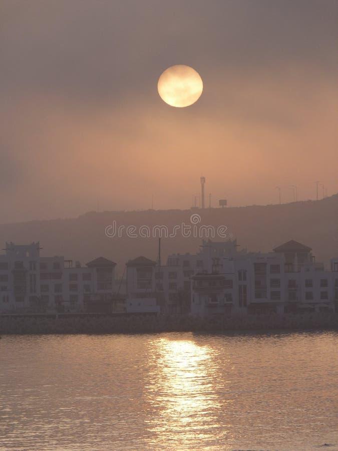 Sur Agadir de Coucher de soleil fotografia de stock royalty free