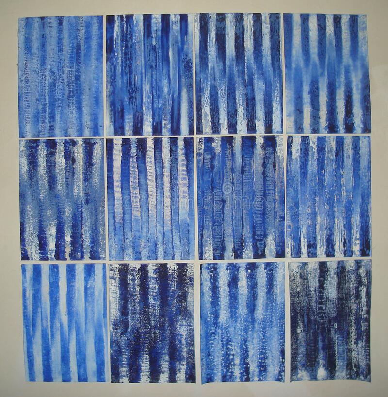 Sur d'outremer de bleu de Huile papier, 2006 - 2007 photo stock