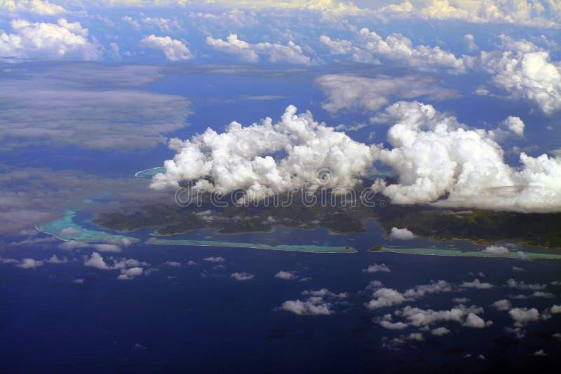 Sur de la isla de Raiatea imagen de archivo
