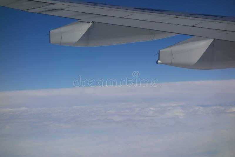 Sur l'avion photos libres de droits