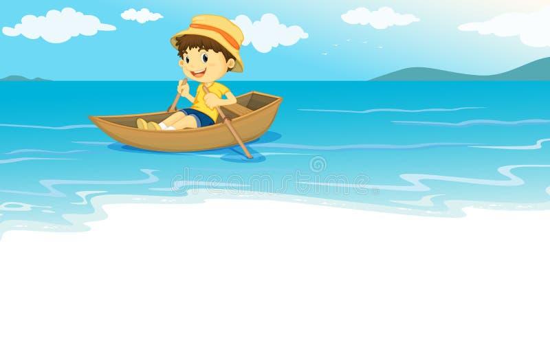 Sur l'eau illustration libre de droits