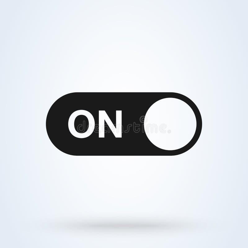 Sur l'illustration moderne de conception d'icône de vecteur simple de bouton de commutateur illustration stock