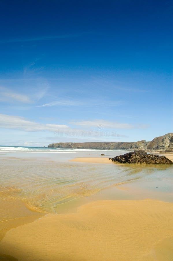 Sur la côte cornouaillaise photographie stock libre de droits