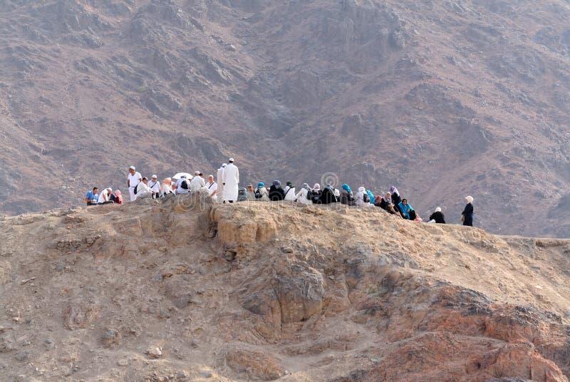 Sur la colline d'archers en éditorial de la Médina photo libre de droits