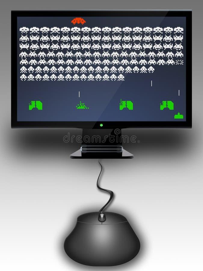Sur la ligne jeu électronique illustration stock