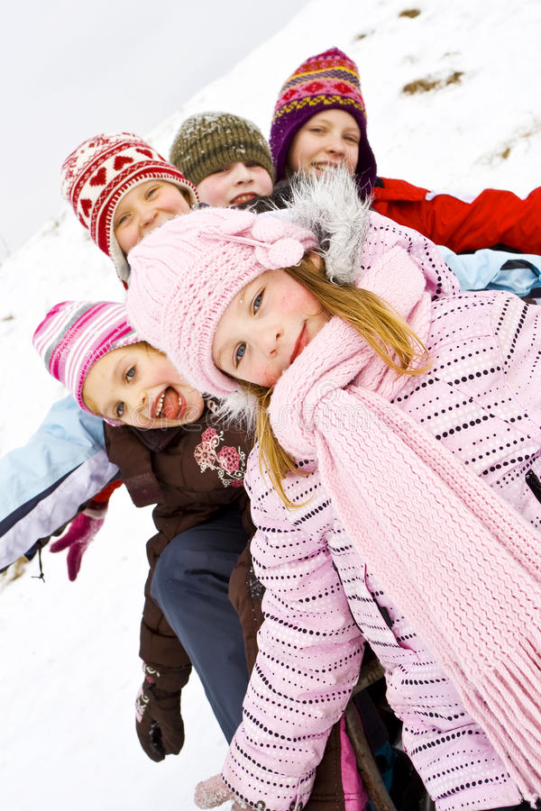 Sur la neige photographie stock libre de droits