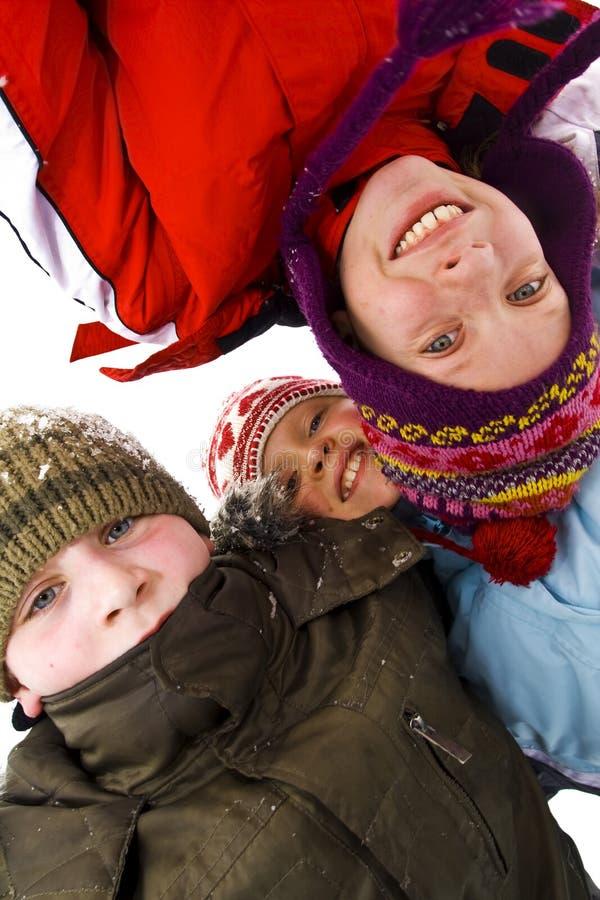 Sur la neige image libre de droits