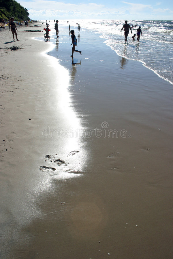 Sur la plage photos stock