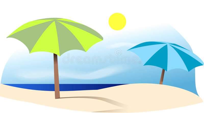Sur la plage illustration stock