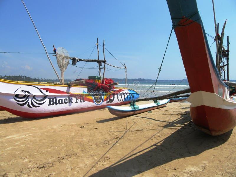 Sur la plage de Weligama/de Sri Lanka images stock