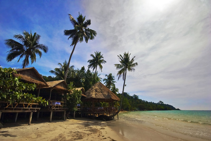 Sur la plage tropicale image stock