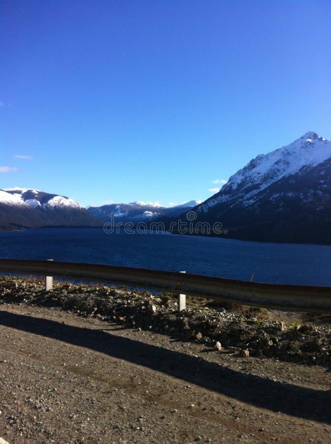 Sur la route à skier centre dans Bariloche, l'Argentine photos libres de droits