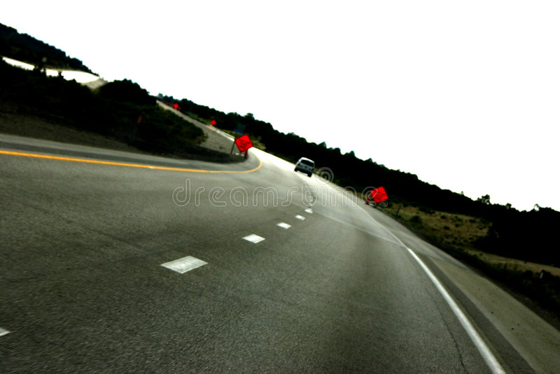 Sur La Route De Nouveau Photographie stock