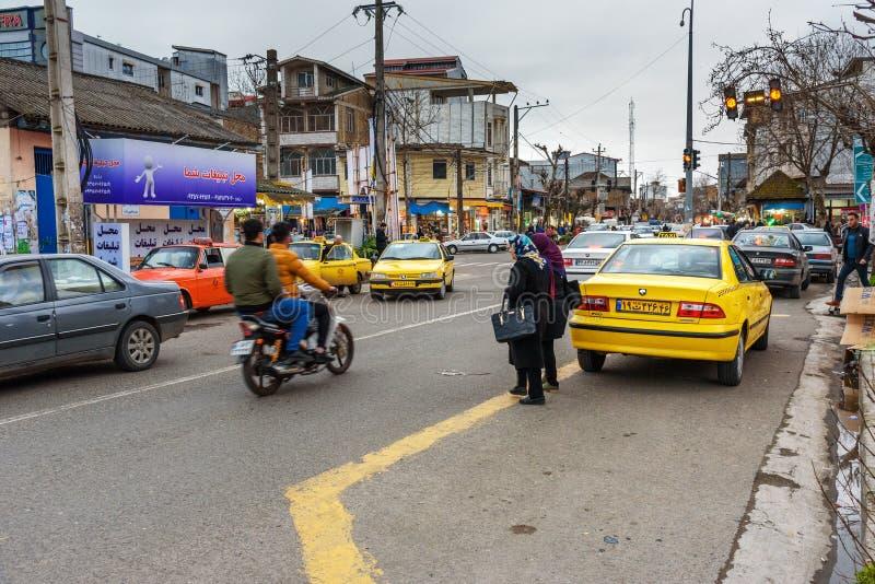 Sur la rue dans la ville d'Astara Province de Gilan, Iran images libres de droits