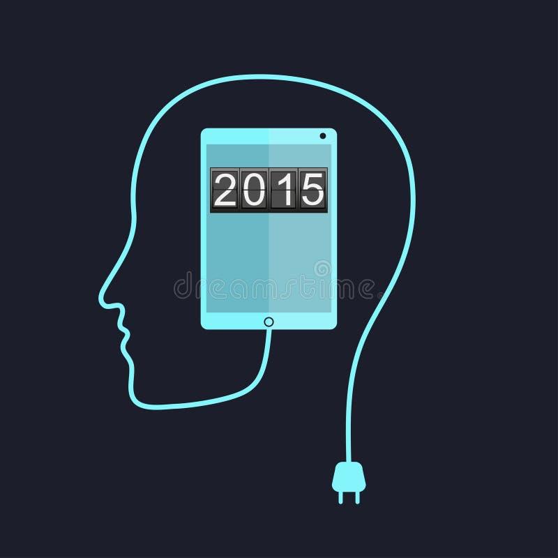 2015 sur la tablette générique illustration libre de droits
