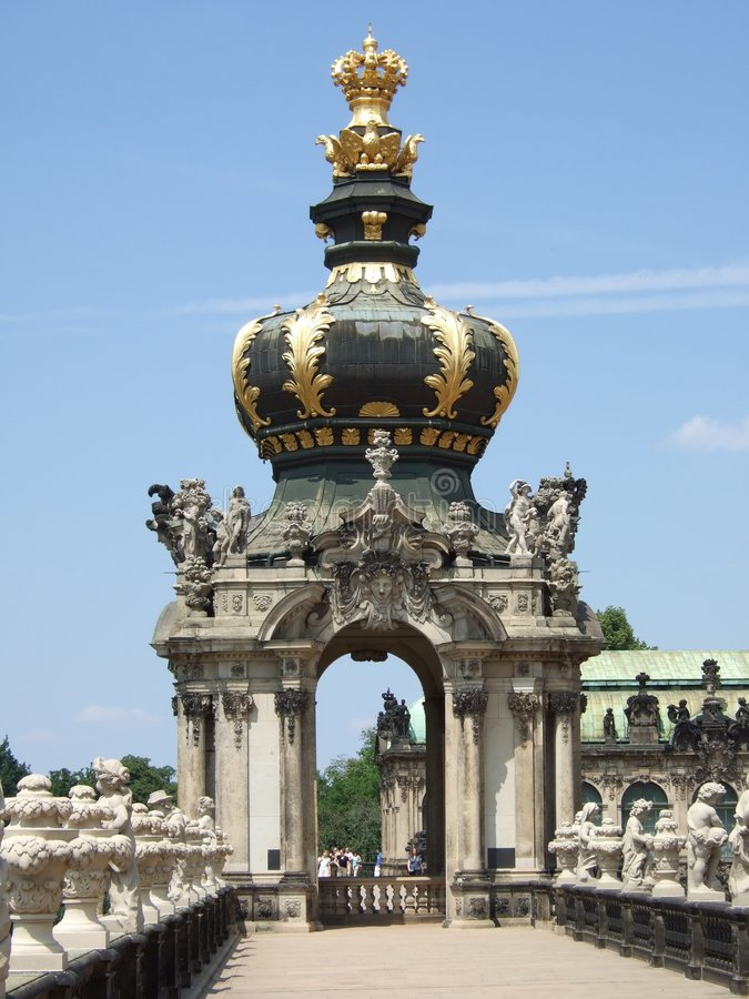 Sur la terrasse dans le Zwinger image libre de droits